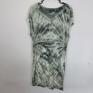 XCVI Asymmetrical Green Tie Dye Top Size M